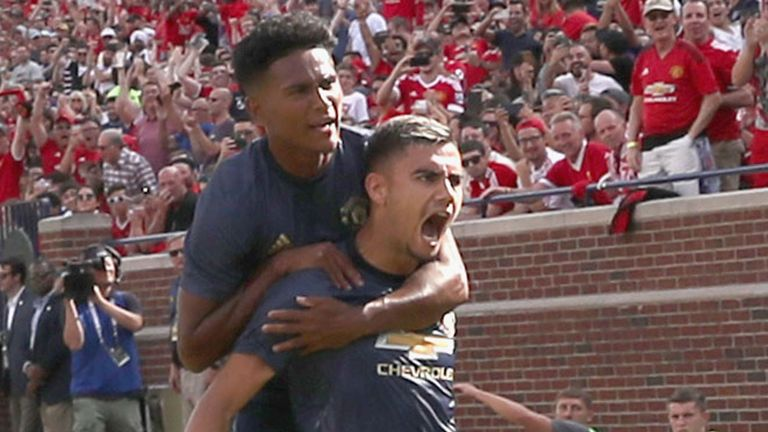 Andreas Pereira scored against Liverpool at the weekend