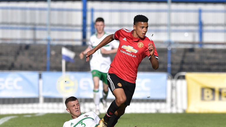 Mason Greenwood scored 17 times for United's Under-18s last term