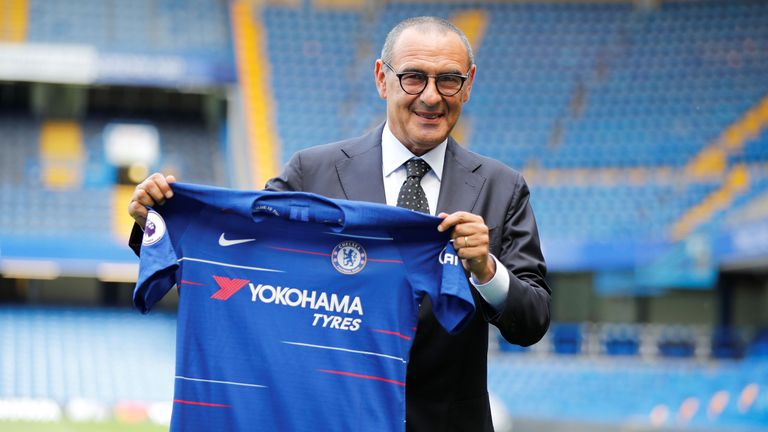 Maurizio Sarri has been installed as the new head coach at Chelsea