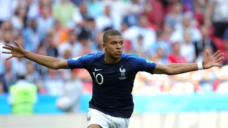 Kylian Mbappe is France's youngest ever World Cup scorer