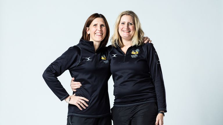 Mel Mansfield (r) has been appointed as the Wasps head coach with Sarah Taylor confirmed as the new franchise manager