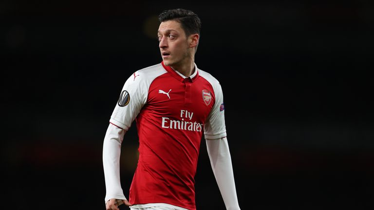 Ozil flew out to Singapore on Sunday to join up with Arsenal on their pre-season tour