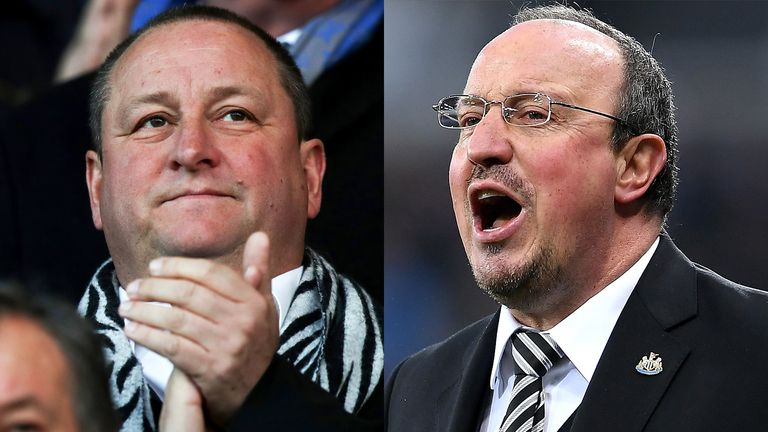 Mike Ashley and Rafael Benitez