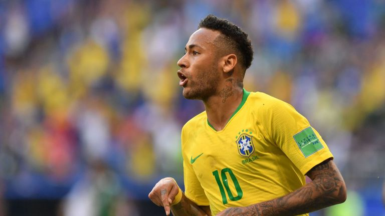 Neymar scored two goals in Russia