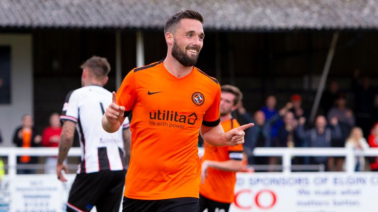 Dundee United's Nicky Clark celebrates scoring