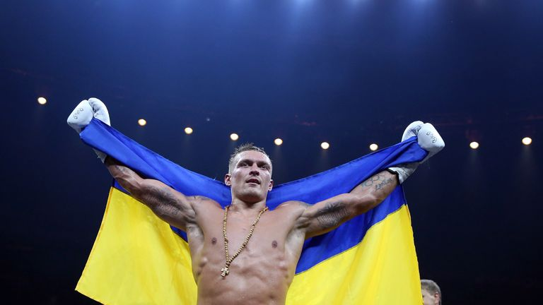 Usyk won the heavyweight gold at London 2012 Olympics