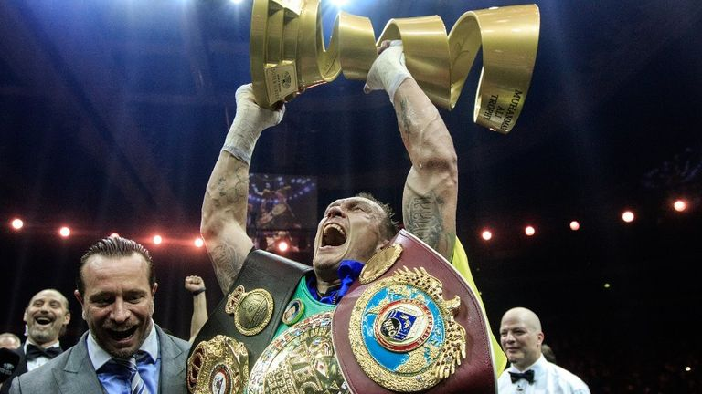 Usyk beat Murat Gassiev to win the Muhammad Ali Trophy