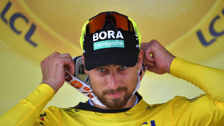 Peter Sagan claimed the yellow jersey with victory on stage two