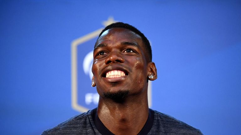Paul Pogba will not captain France against Germany despite wearing the armband for Manchester United