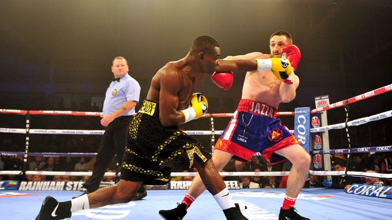 Guillermo Rigondeaux vs Jazza Dickens during their WBA Super-Bantamweight World Championship fight.at the Ice Arena Wales, Cardiff. PRESS ASSOCIATION Photo. Picture date: Saturday July 16, 2016. See PA story BOXING Cardiff. Photo credit should read: Simon Galloway/PA Wire