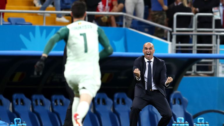 Roberto Martinez during the 2018 FIFA World Cup Russia Round of 16 match between Belgium and Japan at Rostov Arena on July 2, 2018 in Rostov-on-Don, Russia.