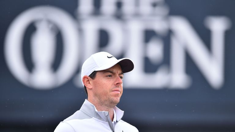 Northern Ireland's Rory McIlroy leaves the 3rd tee during his second round on day 2 of The 147th Open golf Championship at Carnoustie, Scotland on July 20, 2018