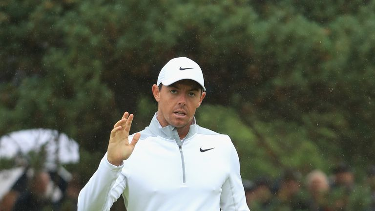 Rory McIlroy is just two off the lead at halfway