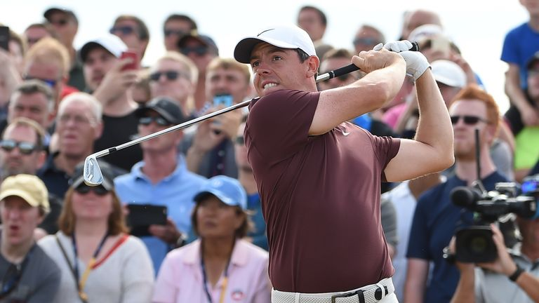 Rory McIlroy will go into the final round four shots off the lead