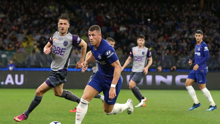Ross Barkley during the international friendly between Chelsea FC and Perth Glory at Optus Stadium on July 23, 2018 in Perth, Australia.