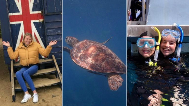 Samantha Kinghorn had fun in the water and flying during her six-week break