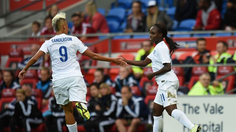 Sanderson is reunited with former England team-mate Eni Aluko