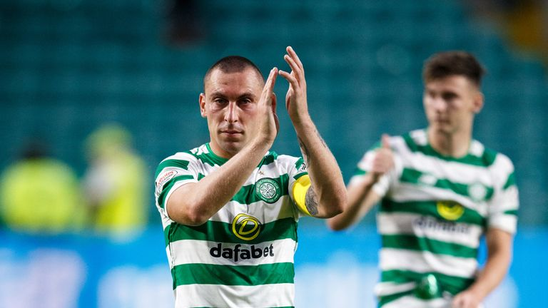 Celtic's Scott Brown after the UEFA Champions League match at Celtic Park, Glasgow. PRESS ASSOCIATION Photo. Picture date: Wednesday July 18. 2017