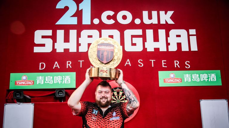 Smith celebrates after his victory in Shanghai