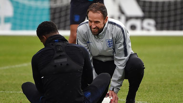 England's players have been recovering from a tough battle with Colombia