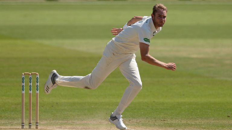 Broad played for Nottinghamshire against Worcestershire last week