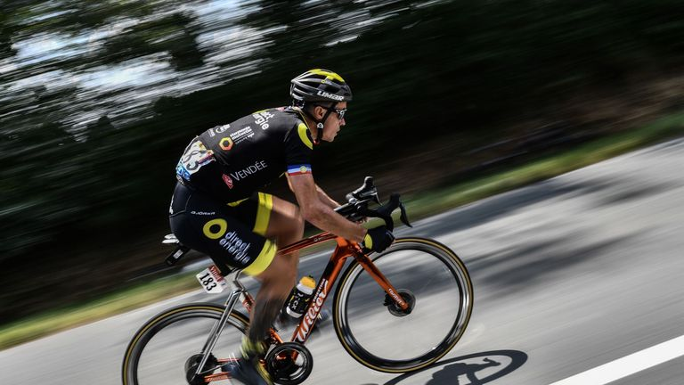 Sylvain Chavanel spent much of the day on his own