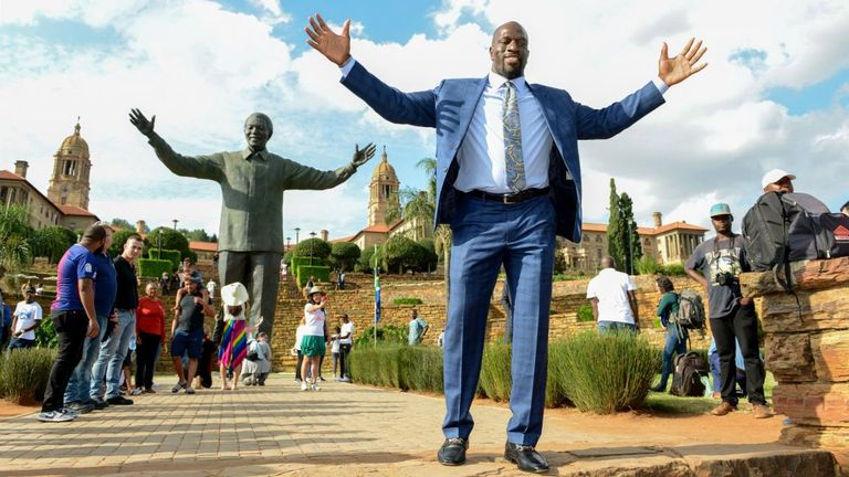 Titus O'Neil does a huge amount of ambassadorial work for WWE, and was at the centre of their recent visit to South Africa