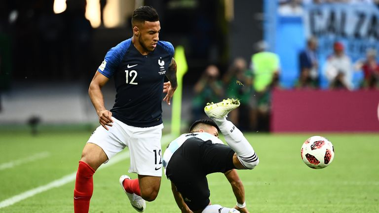 Corentin Tolisso came off the bench in France's win over Argentina