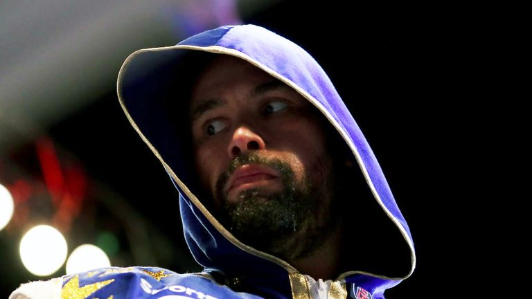 Tony Bellew looks on prior to Heavyweight fight between Tony Bellew and David Haye at The O2
