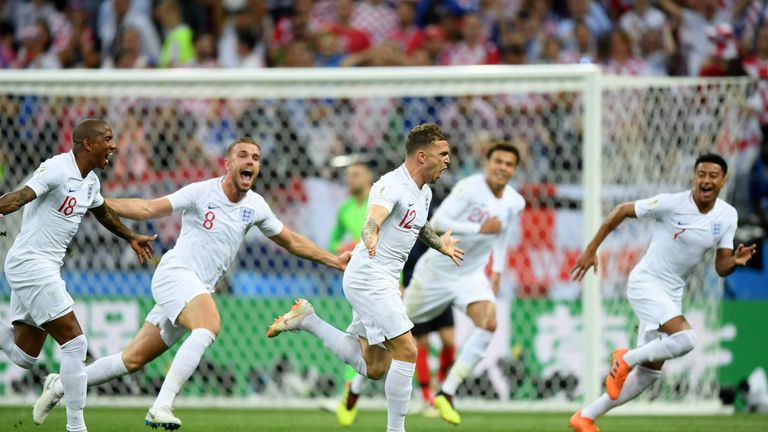 Trippier's first goal for his country gave England the perfect start