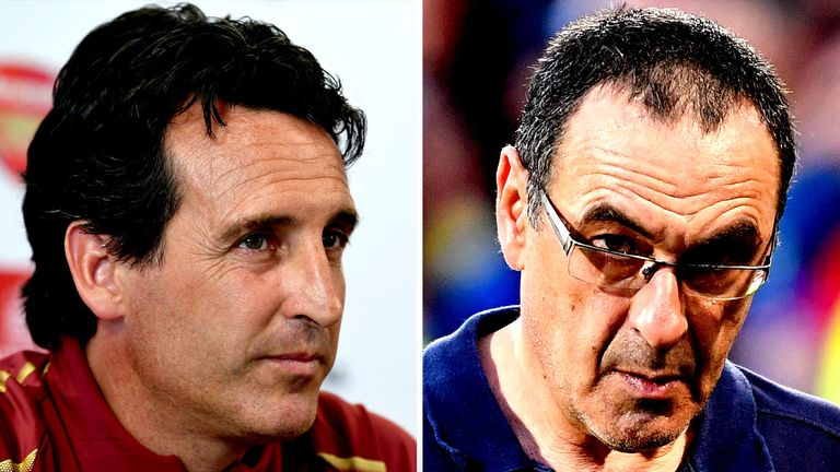 Unai Emery and Maurizio Sarri are among the newcomers to the Premier League