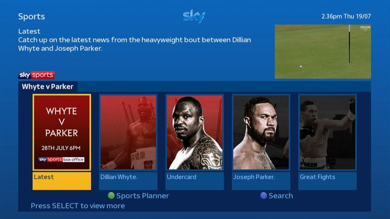 Go to On Demand for all the latest build-up interviews and action
