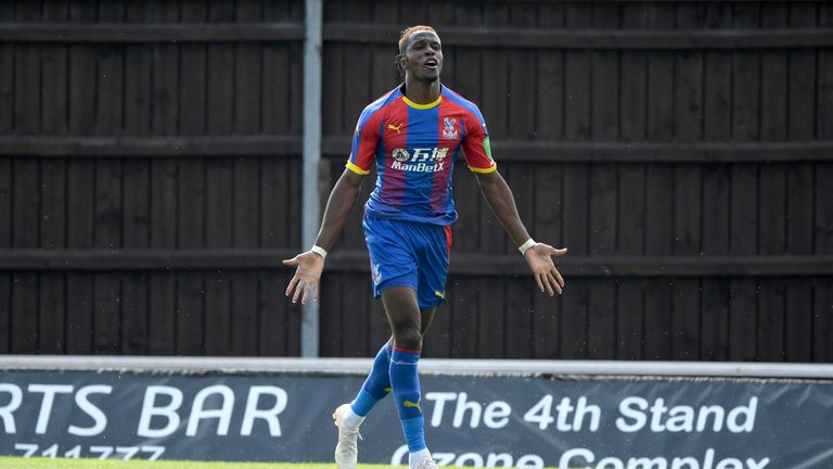 Wilfried Zaha could cause Fulham's defence problems on Saturday