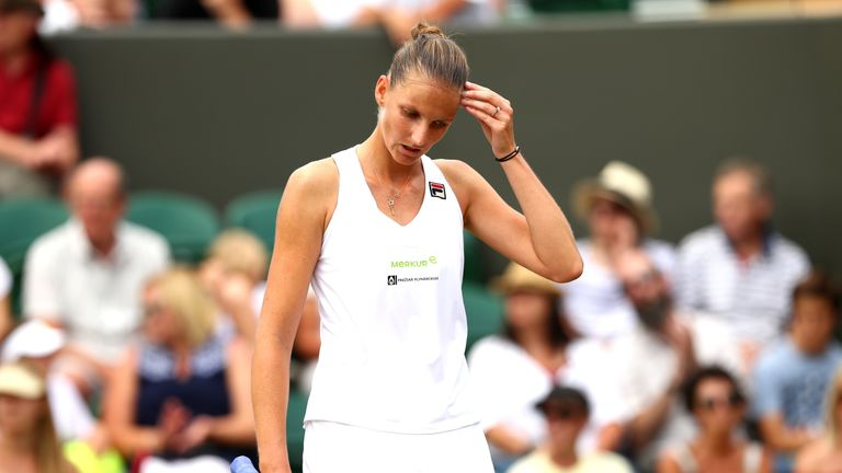 Karolina Pliskova became the last member of the top 10 seeds to exit