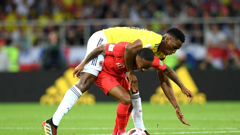 Mina was a colossal for Colombia keeping Raheem Sterling well shackled