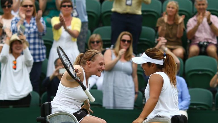 Kamiji teamed up with Jordanne Wiley to win the doubles title last year, this year it will be De Groot alongside her