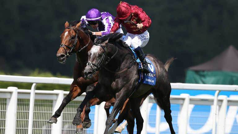 Roaring Lion - worked well ahead of Juddmonte International at York