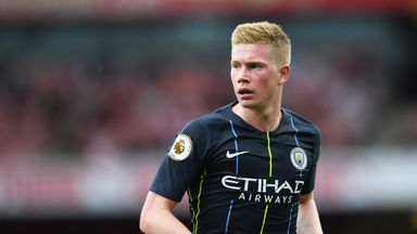 Kevin De Bruyne has not played since the opening day of the season
