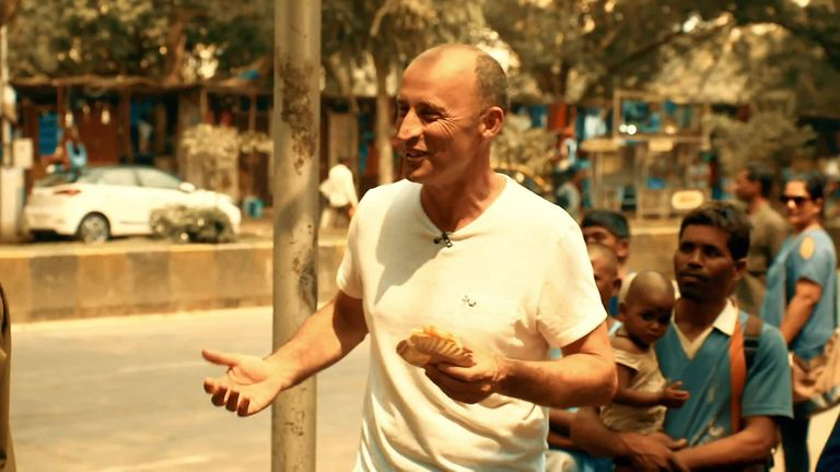 It wasn't all plain sailing for Nasser as he delved deep into the heart of Mumbai for his Sky Sports documentary. Check out some of his gaffes!