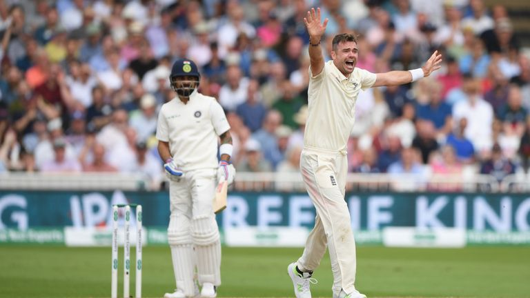 James Anderson needs five wickets to become the leading seamer in Test cricket