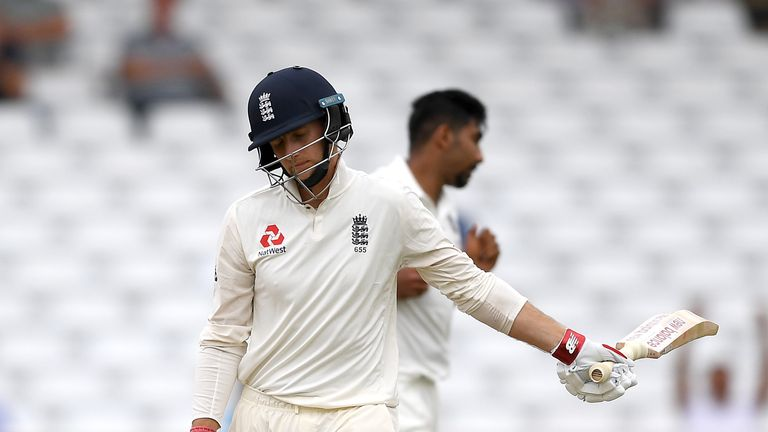 Joe Root was dismissed for 13 on day four at Trent Bridge