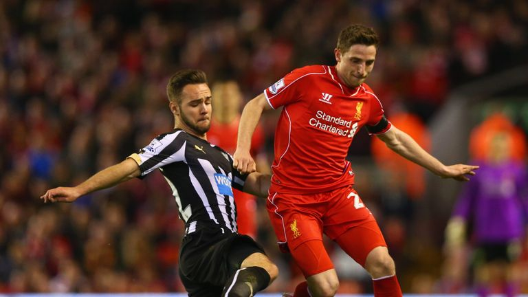 Adam Armstrong in action for Newcastle