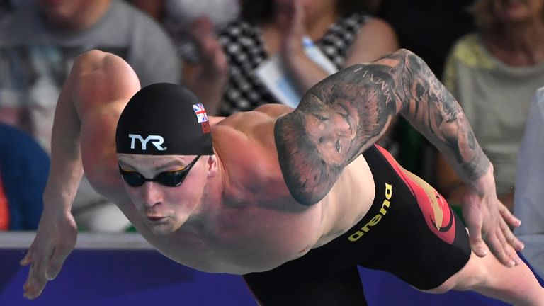 Peaty has broken world records 10 times and currently holds two world records in the 50 and 100 metre breaststroke