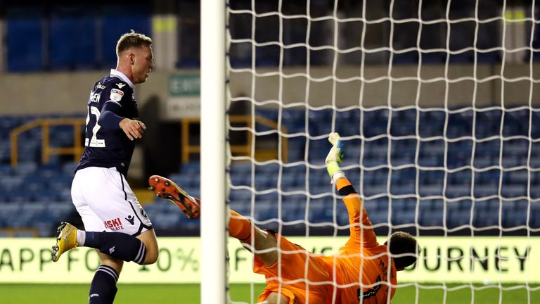 Aiden O'Brien scored a late winner for Millwall
