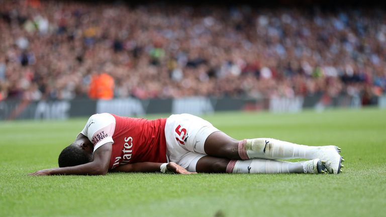 Ainsley Maitland-Niles suffered the injury in Arsenal's opening Premier League game against Manchester City