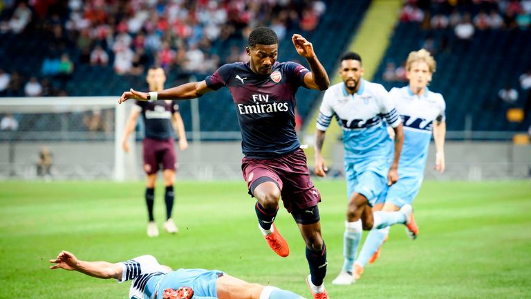 Ainsley Maitland-Niles played the full 90 minutes at left-back for Arsenal against Lazio