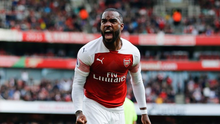 Alexandre Lacazette was a key man for Arsenal in September