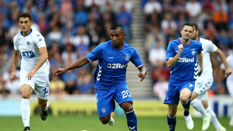 Alfredo Morelos scored 14 Scottish Premiership goals in 35 games last season