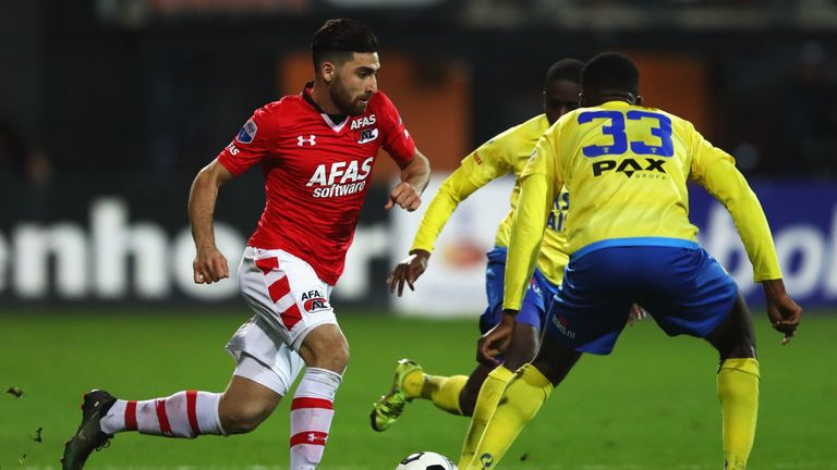 Jahanbakhsh scored 21 goals as AZ finished third in the Eredivisie in 2017/18