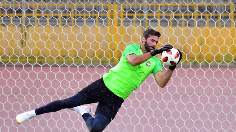 Liverpool's new goalkeeper Alisson is in the squad